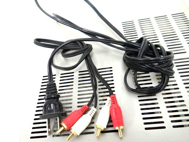 DENON DRA-F101 デノン レシーバーアンプ オーディオ機器 通電確認済み 難有 ジャンク扱い 赤白コード1組セット kh05-DA12_画像5