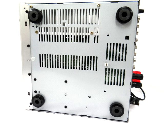 DENON DRA-F101 デノン レシーバーアンプ オーディオ機器 通電確認済み 難有 ジャンク扱い 赤白コード1組セット kh05-DA12_画像8