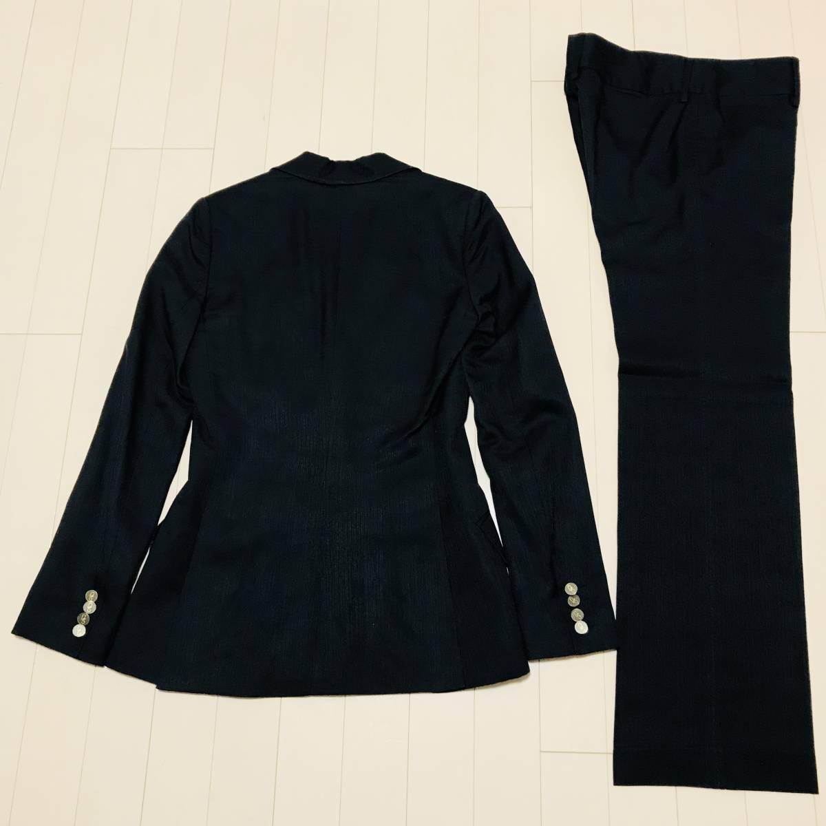 本物 DOLCE&GABBANA ドルチェ&ガッバーナ 2B ピークド DGボタン パンツスーツ ブラック 黒 ドルガバ_画像3