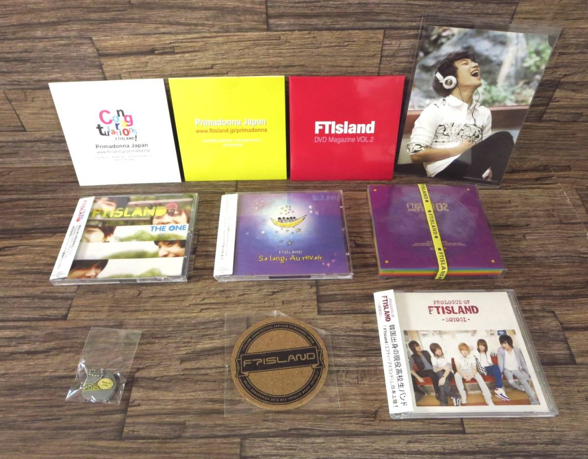 ●FTIsland CD DVD 7点 2集 Colorful Sensibility Prologue of FTIsland soyogi THE ONE So long、Au revoir FT TIME ミンファン●z15344