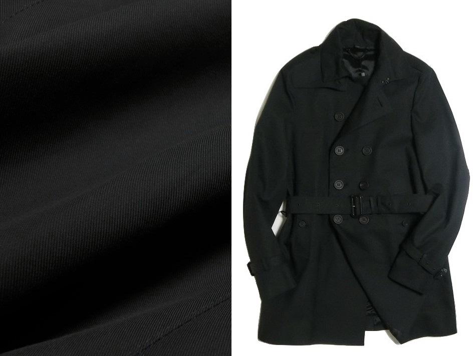 イタリアBURBERRY正規店購入 新品本物 サイズ48 バーバリープローサム トレンチコート ブラック
