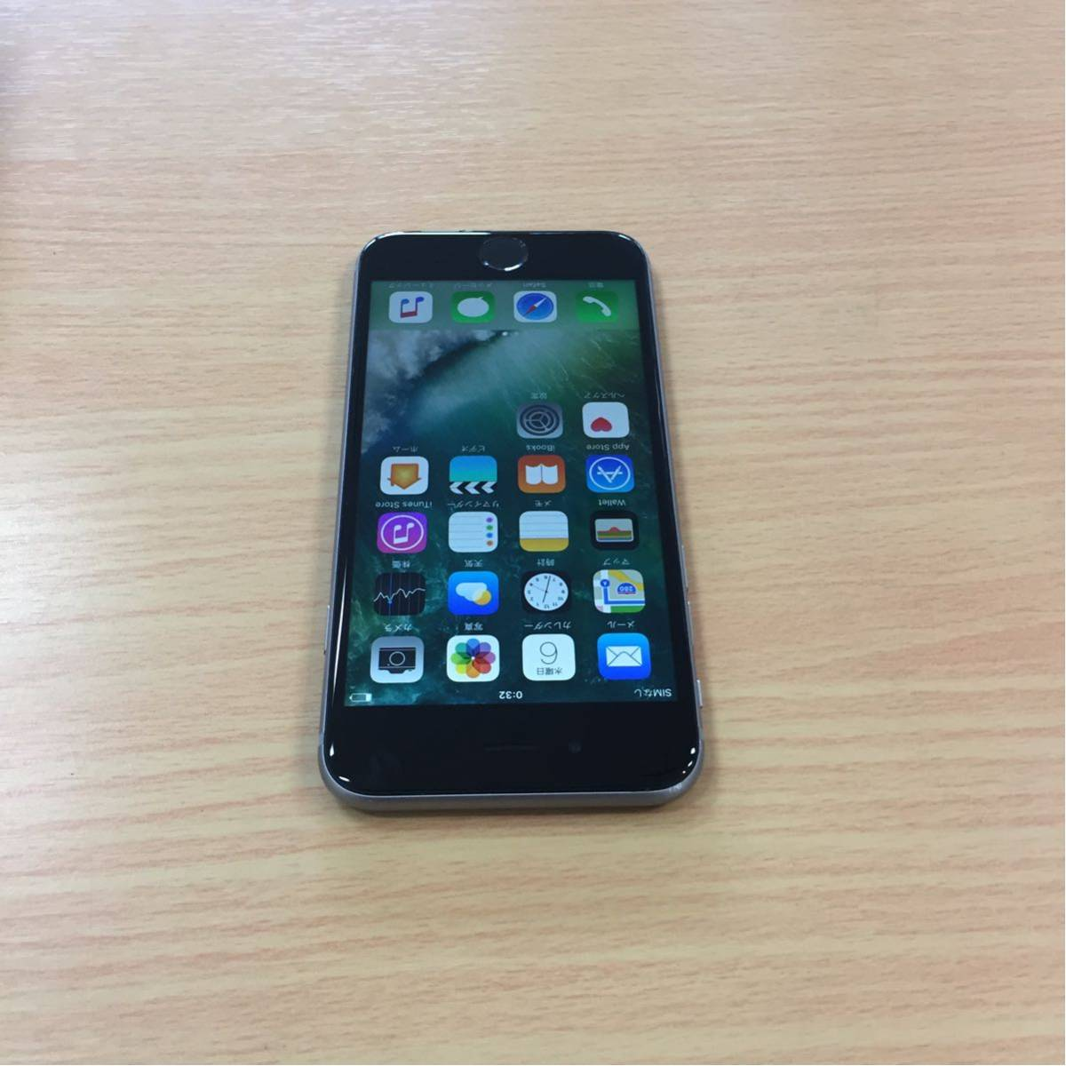 au iPhone6s 128GB グレー 10.3.3 MKQT2J/A 制限○_画像2