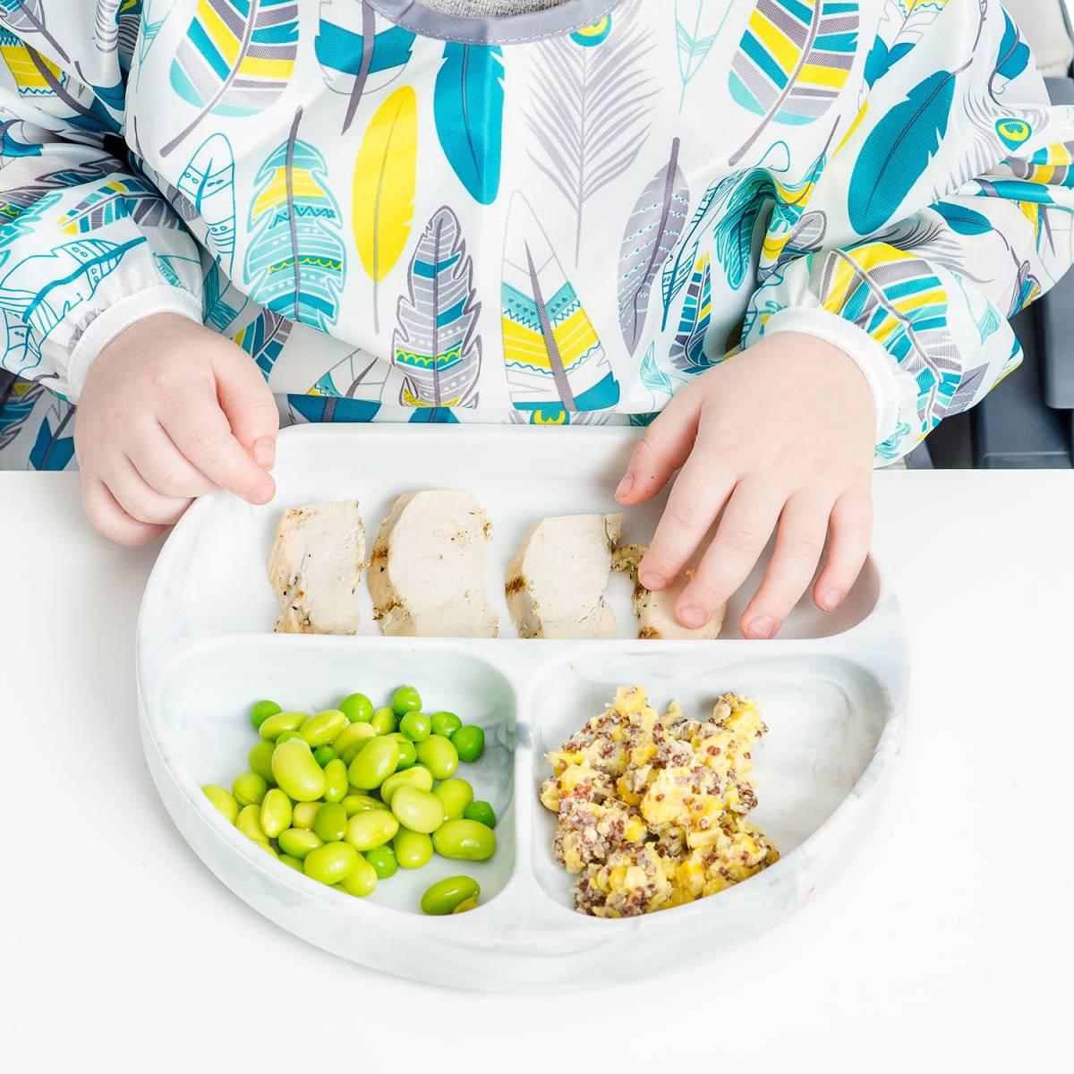 初めてのお食事セット!4点キッズセット 離乳食づくりを楽しく、便利に バンキンス Bumkins シリコン食器 われない こぼれない_画像3