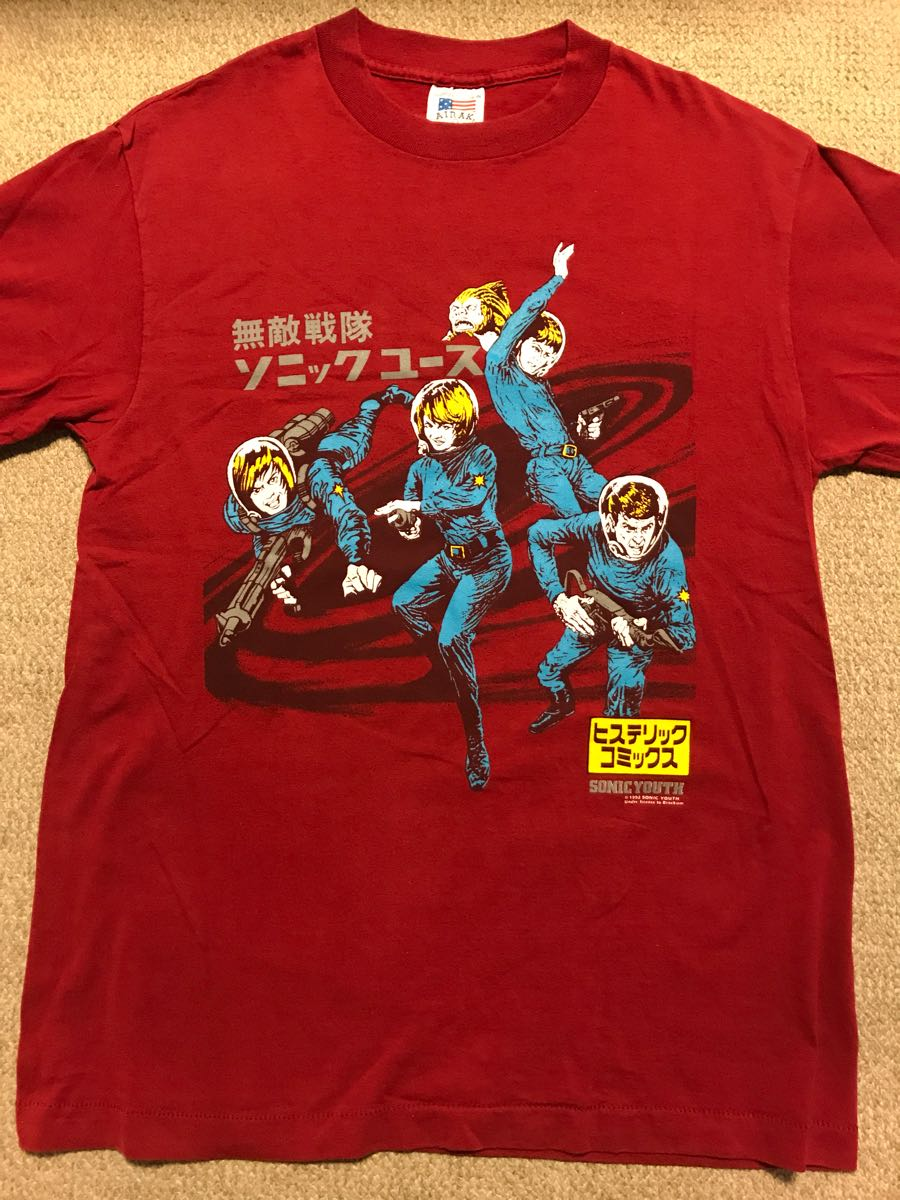 【貴重】ソニックユース Sonic Youth ヴィンテージ Tシャツ バックプリントあり 公式ライセンス