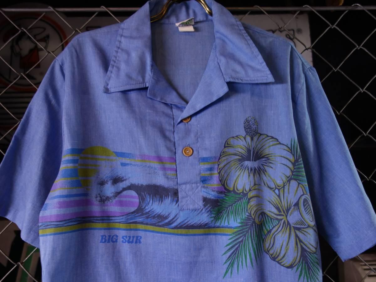 70s-80s BIGSUR ビンテージ プルオーバー サーフシャツ オールドサーフ_画像2