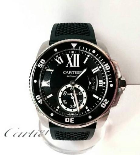新品 カルティエ Cartier カリブル ドゥ ダイバー 自動巻き 腕時計 バロン パシャ_画像2
