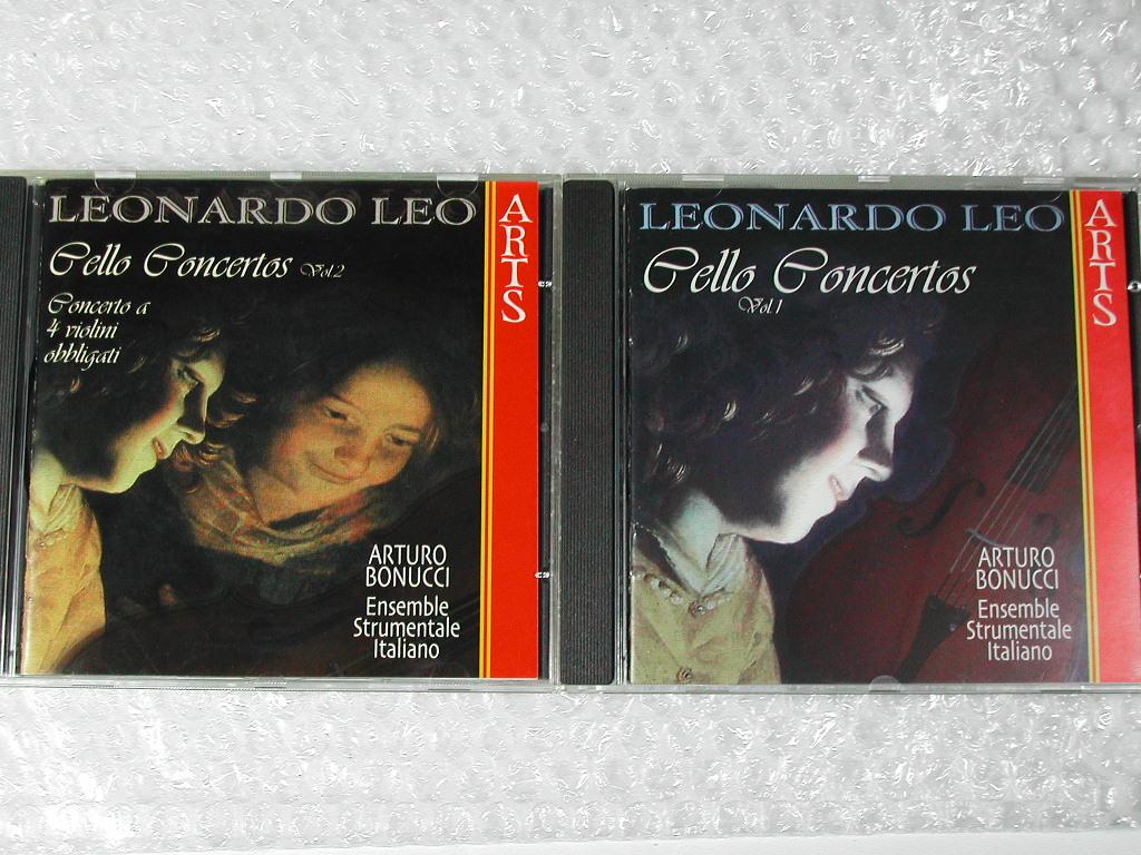 CD2枚組Leonardo Leo Cello Concertos Vol.1&2/レーオ レオナルド/チェロ協奏曲集/イタリア バロック Aボヌッチ/名盤!!! 廃盤超レア!!!送込