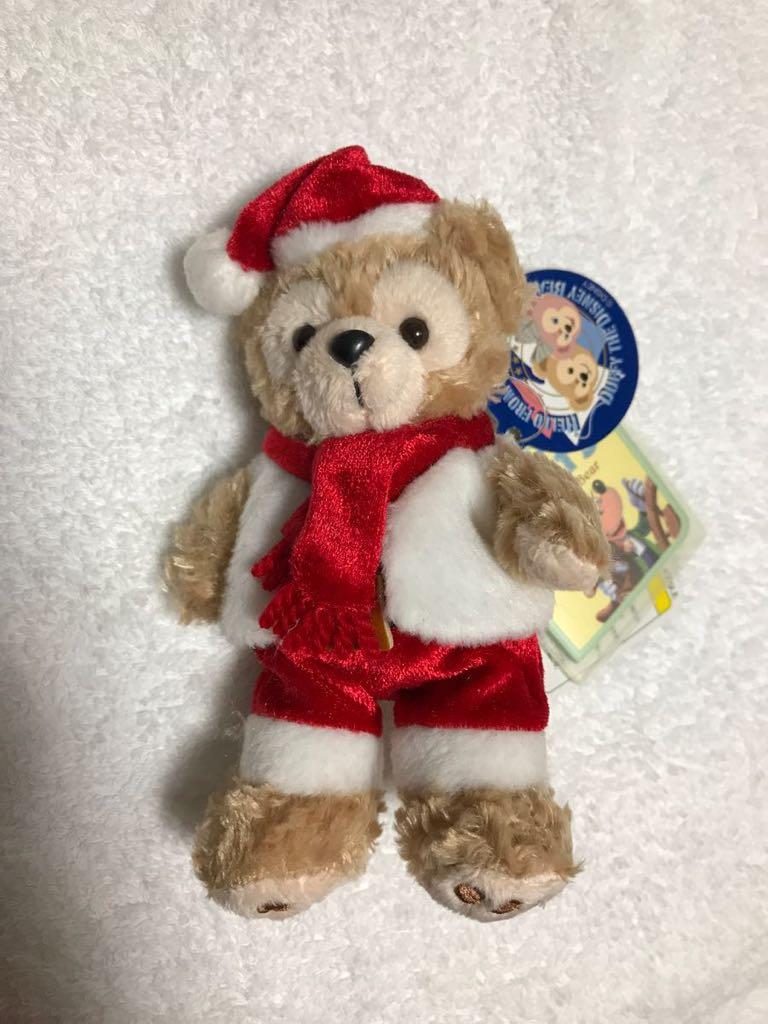 ダッフィー Duffy ぬいぐるみバッジ / ぬいば キーホルダー クリスマスコスチューム 【タグ付き・未使用】