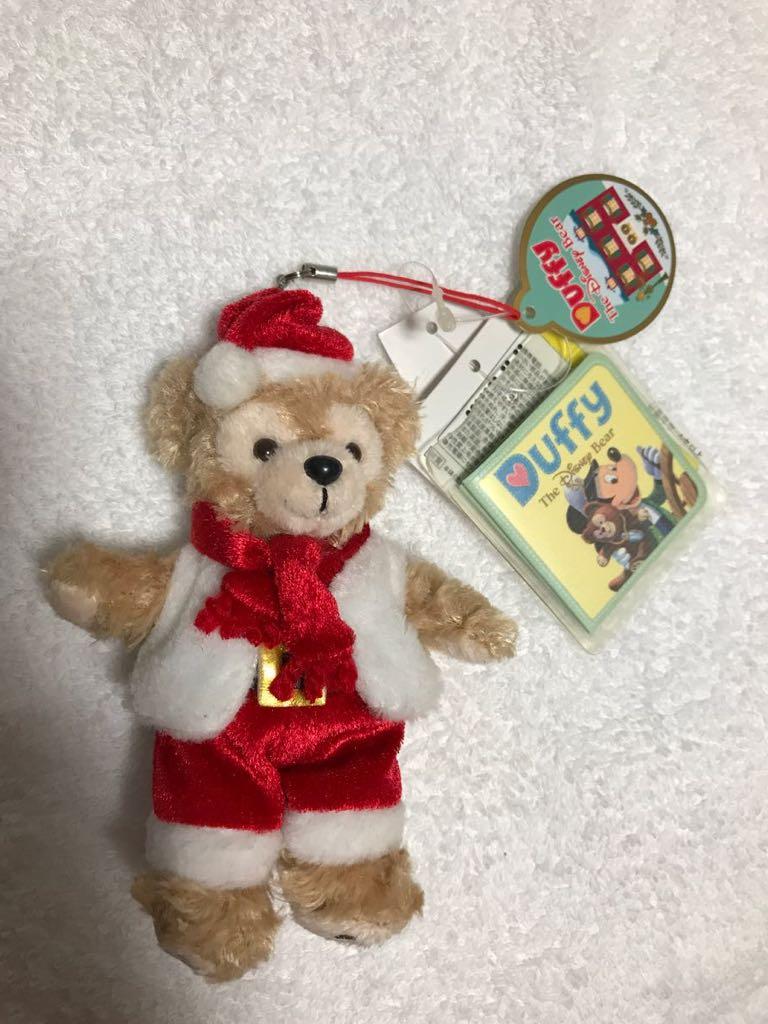 ダッフィー Duffy ぬいぐるみストラップ / ぬいば キーホルダー クリスマスコスチューム 【タグ付き 未使用】