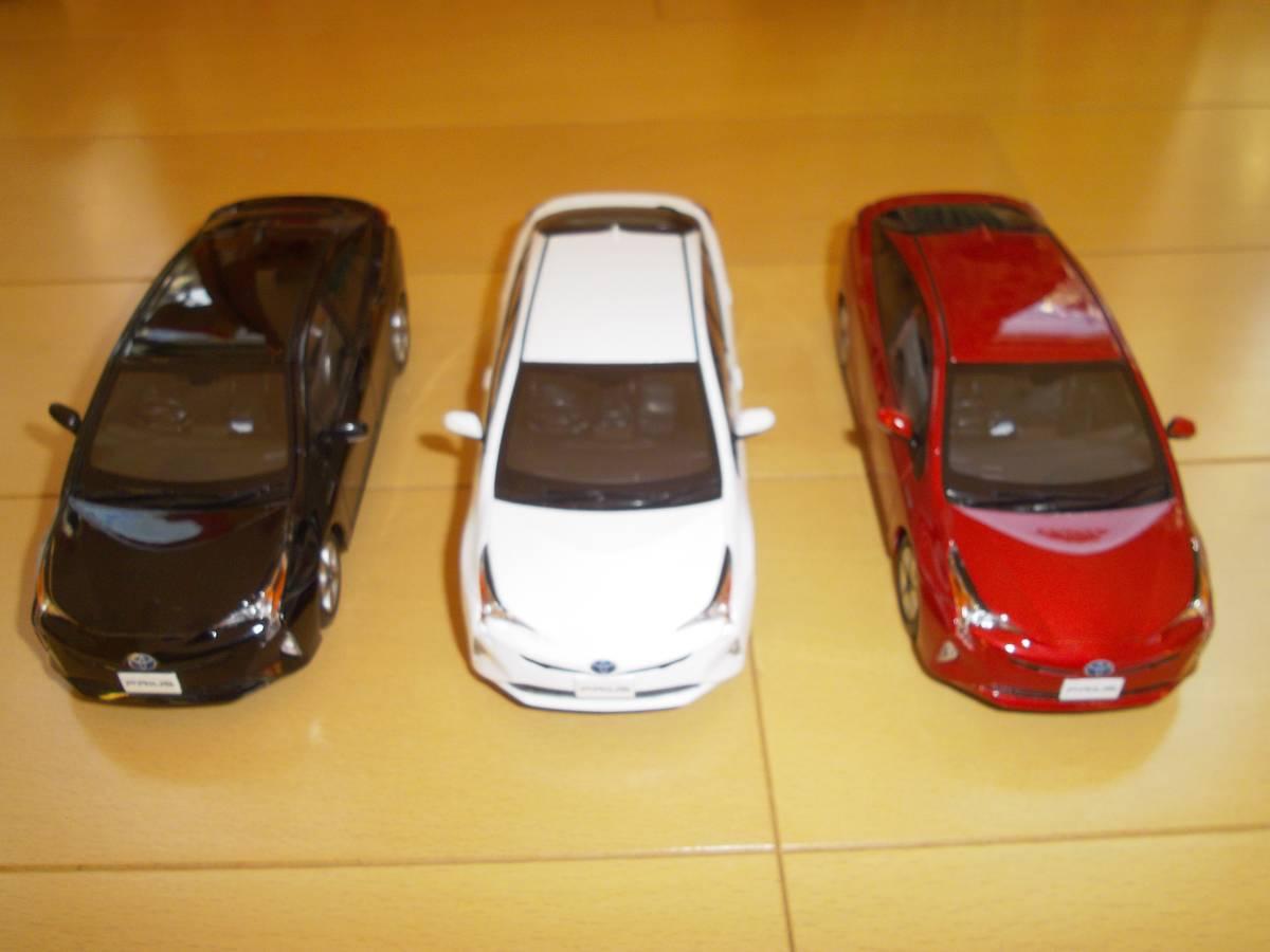 ★トヨタ非売品50系プリウス1/30ミニカー3台黒赤白セット箱なし美品★_画像3