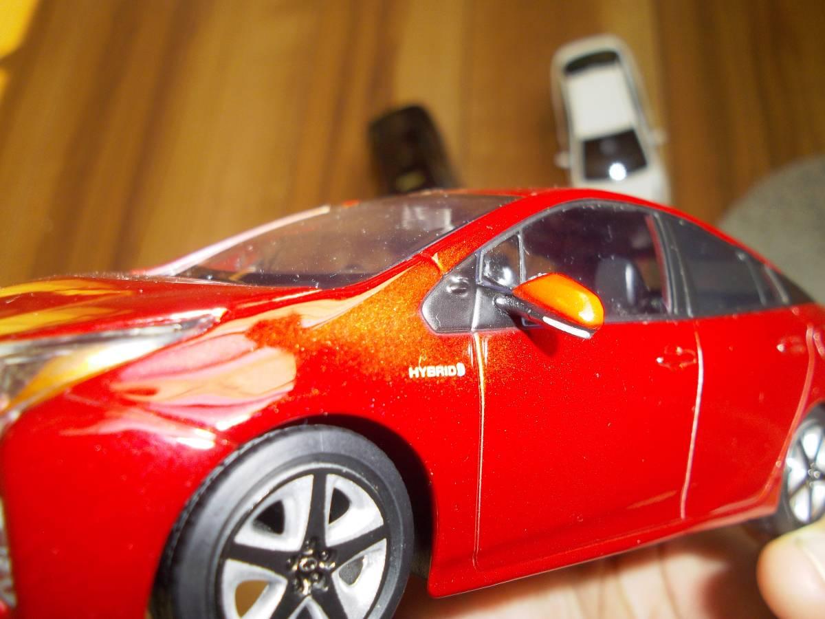 ★トヨタ非売品50系プリウス1/30ミニカー3台黒赤白セット箱なし美品★_画像7