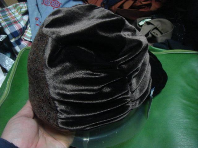 1712カシラCA4LAベロア別珍×ニット レースCRAZYクレイジー パネル リバーシブルCAP帽子ワークキャップWORKドゴール_画像2