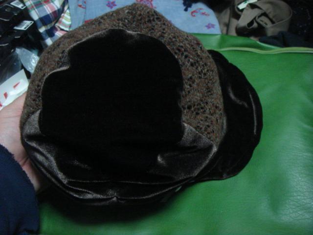 1712カシラCA4LAベロア別珍×ニット レースCRAZYクレイジー パネル リバーシブルCAP帽子ワークキャップWORKドゴール_画像3