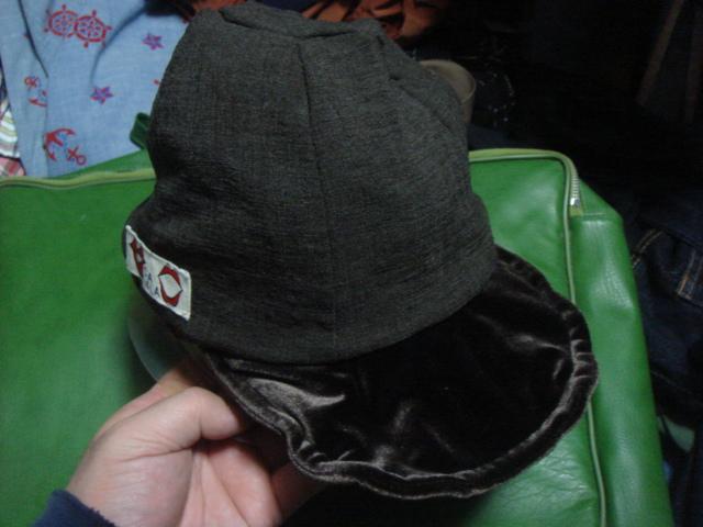1712カシラCA4LAベロア別珍×ニット レースCRAZYクレイジー パネル リバーシブルCAP帽子ワークキャップWORKドゴール_画像8