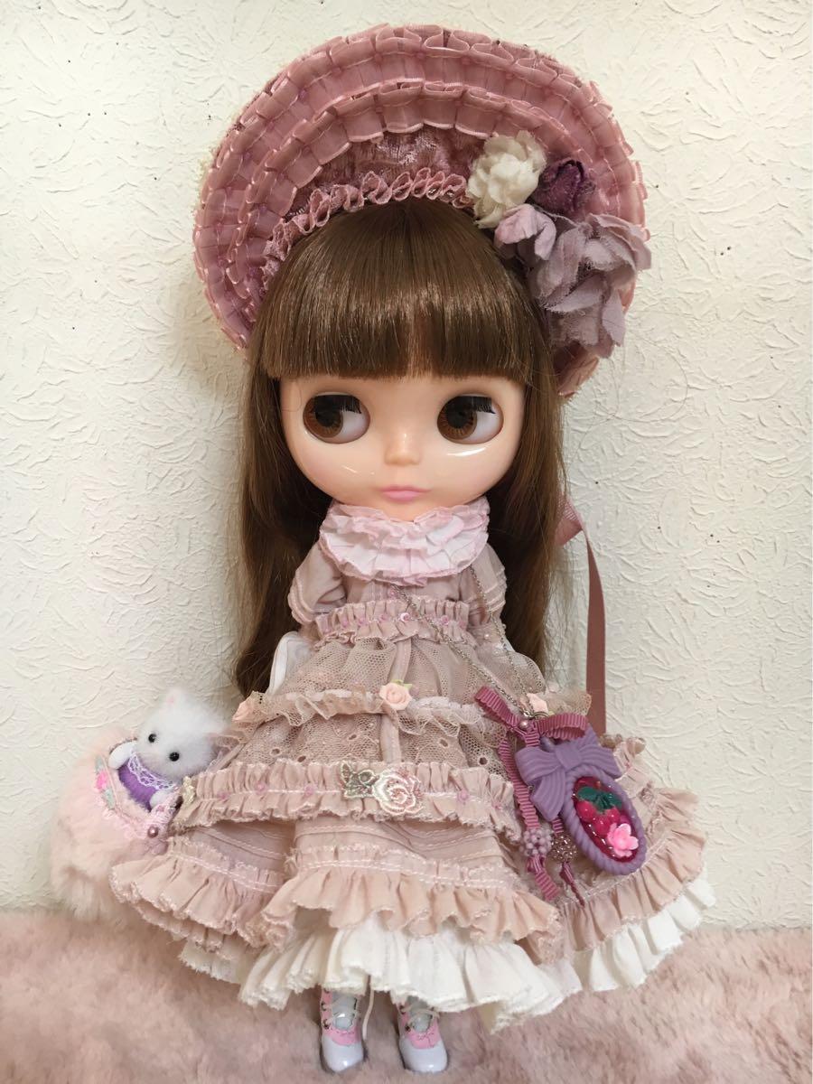 *Blythe outfit*ローズピンクのドレス**ayameya**