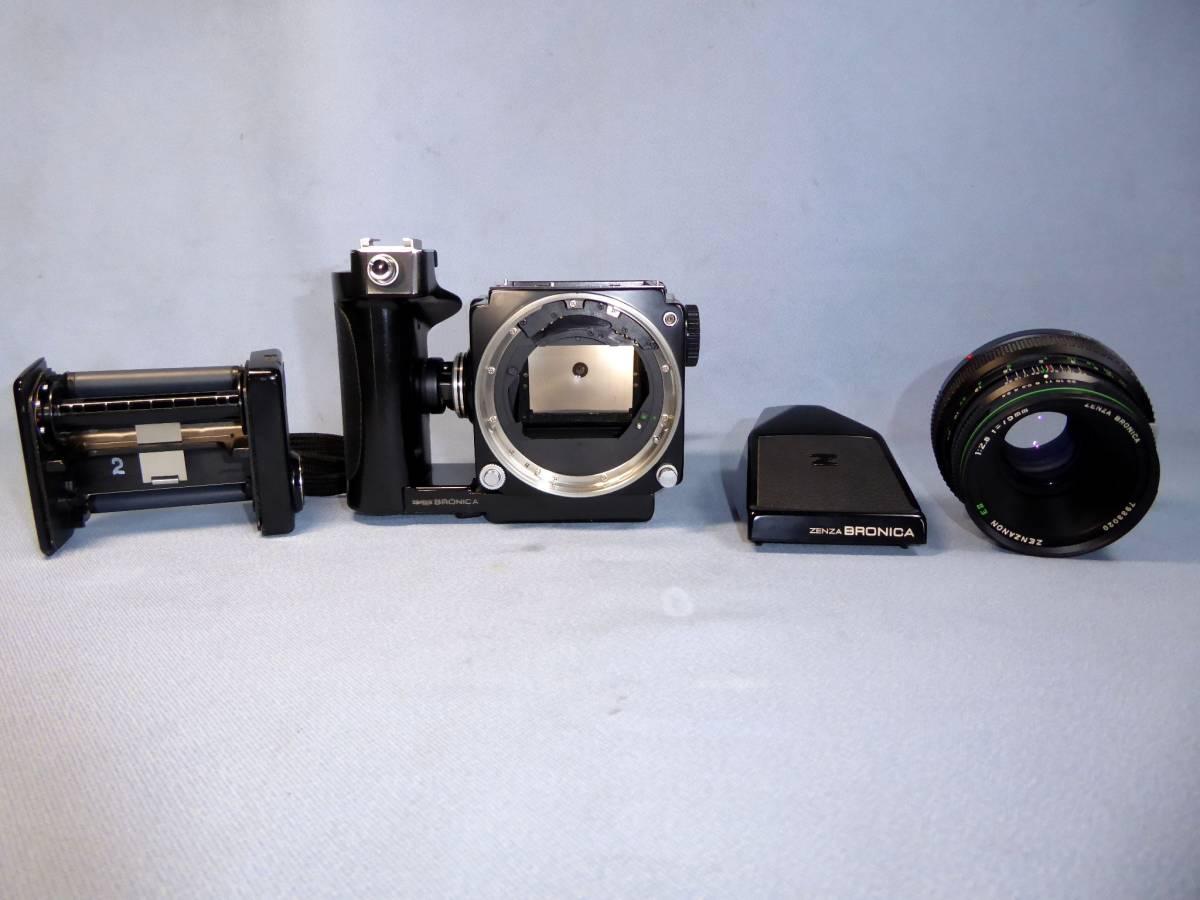 ★  ZENZA BRONICA  ★  ETR - C   +   ZENZANON E Ⅱ   75mm/F2.8   +   ブロニカ プリズムファインダー_画像6