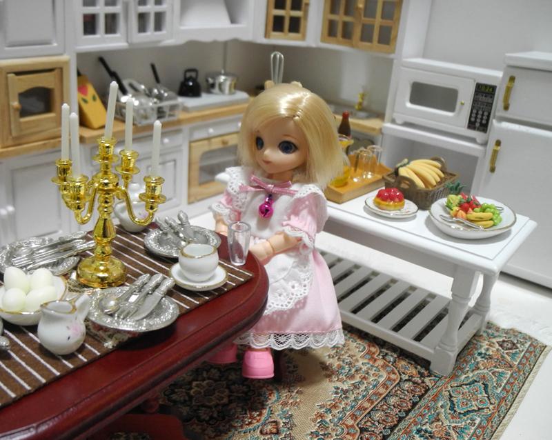 年末年始特価◆ドールハウス◆1/12サイズ◆キッチンセット◆ミニチュア【※ドールは含みません】_画像9