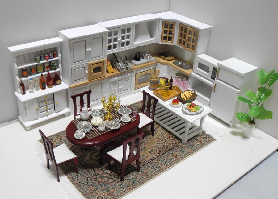 年末年始特価◆ドールハウス◆1/12サイズ◆キッチンセット◆ミニチュア【※ドールは含みません】_画像2
