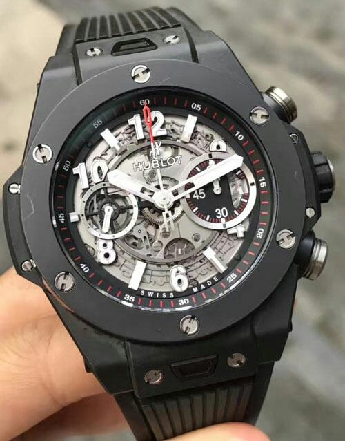 ウブロ ビッグバン ウニコ ブラックマジック グレースケルトン 411.CI.1170.RX 付属品付きメンズ 腕時計_画像2