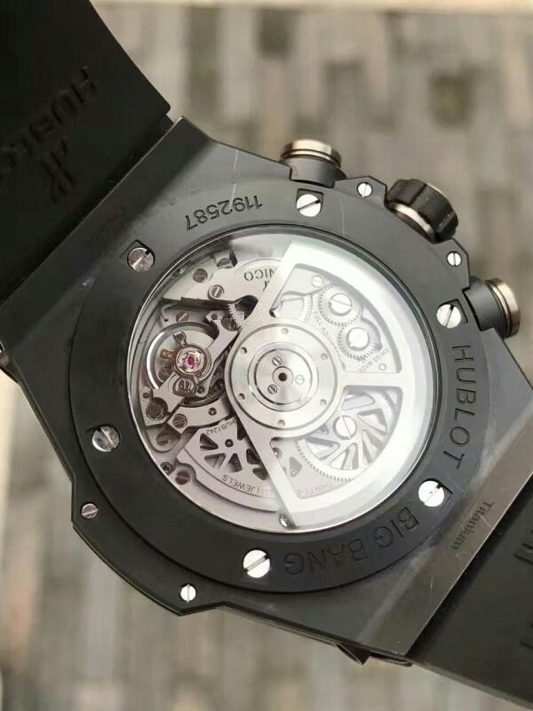 ウブロ ビッグバン ウニコ ブラックマジック グレースケルトン 411.CI.1170.RX 付属品付きメンズ 腕時計_画像3