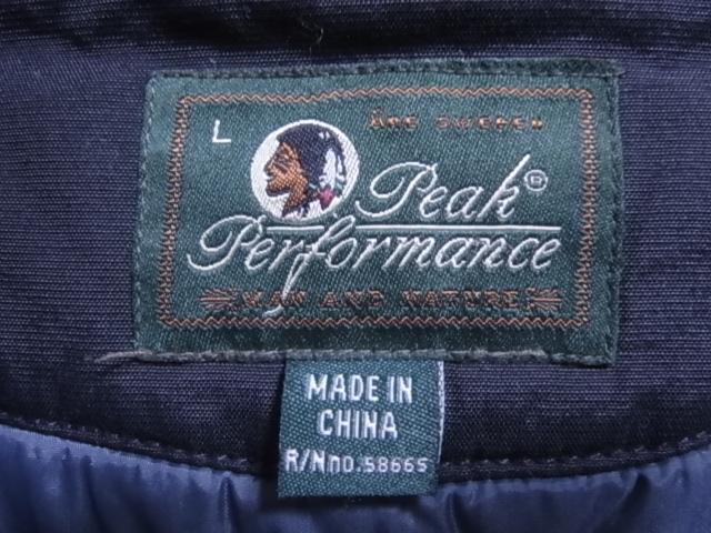 18384★美品★ピークパフォーマンス Peak Performance 黒 中綿入りJKT 日本正規品☆女性用L_画像6