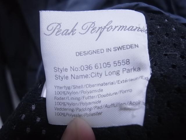 18384★美品★ピークパフォーマンス Peak Performance 黒 中綿入りJKT 日本正規品☆女性用L_画像7
