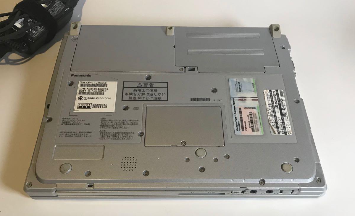 【ジャンク品】Panasonic Let'sNote CF-T7レッツノート HDD無し【通電確認済】_画像7