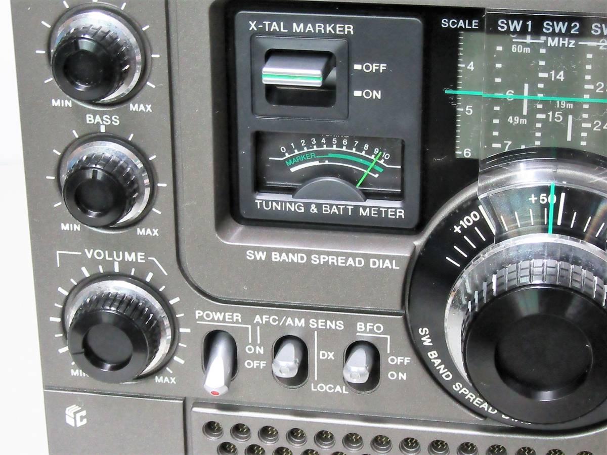 ★★修理済保証付・SONYスカイセンサーICF-5900前期型・完動美品 h1233★★HST!ACアダプター(4.5V250MA)_画像10