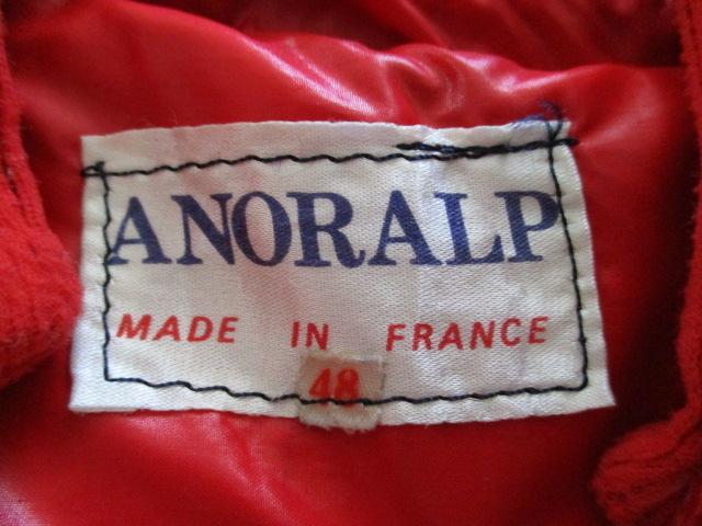 フランス製 ビンテージ アノラルプ ダウンジャケット ANORALP 1970's-1980's made in france マウンテンジャケット アウトドア モンクレー_画像3
