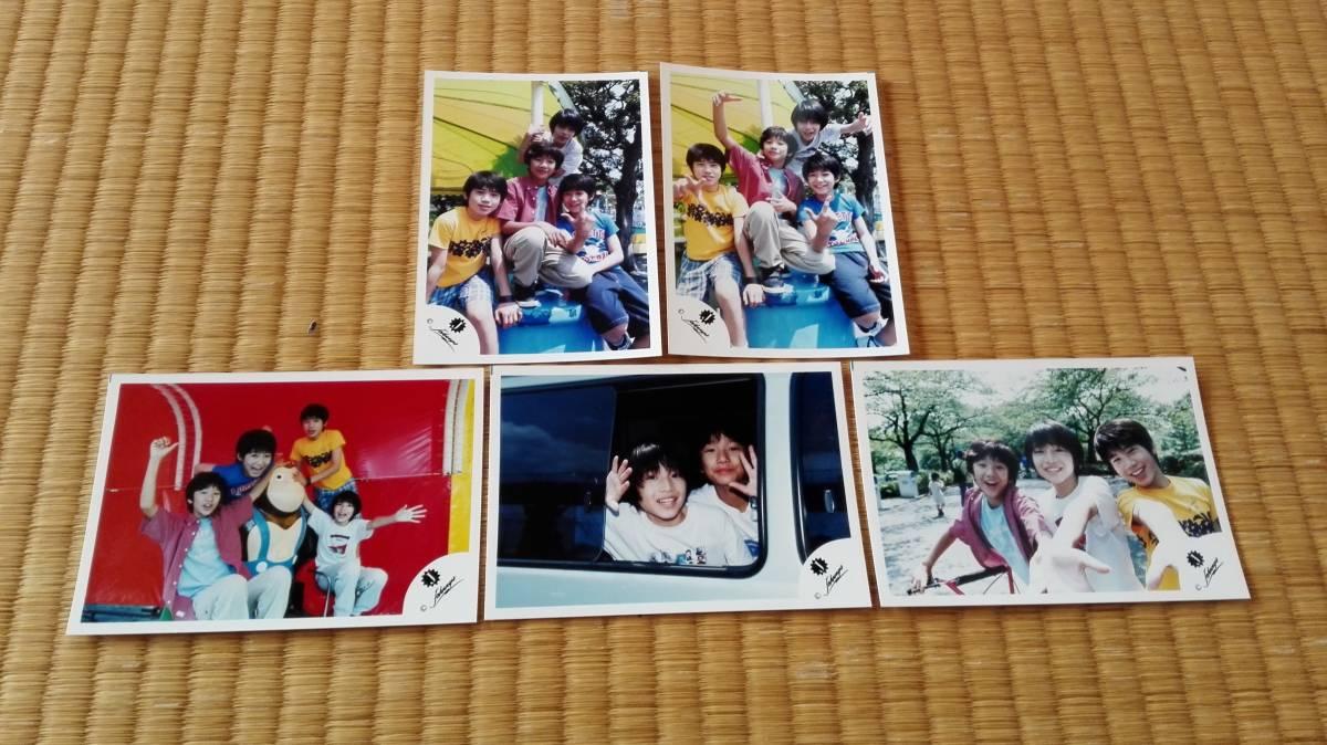 ■ふぉ~ゆ~ 福田悠太 長谷川純 Jr.名鑑6 1999夏 公式写真 5枚■