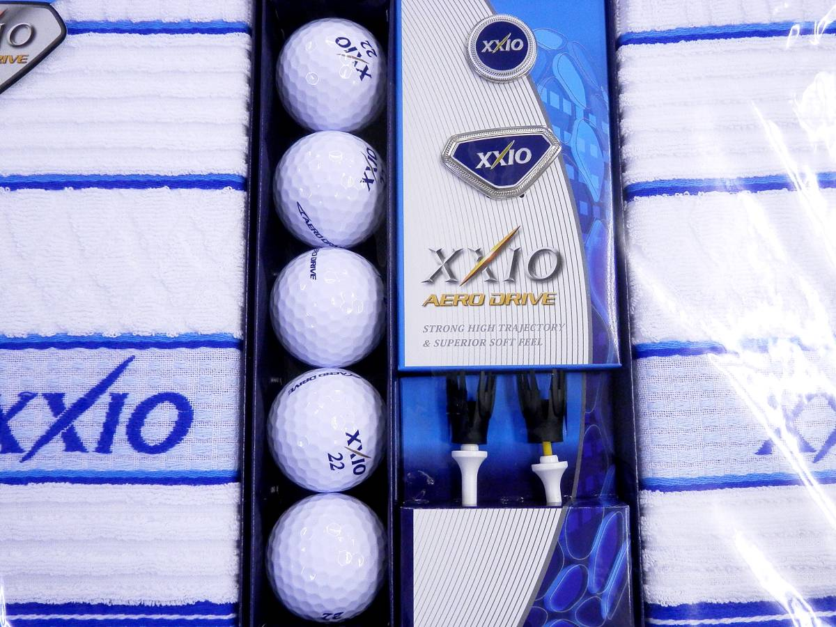 ゴルフ XXIO AERO DRIVE ボール タオル 他 セット 未使用_画像3