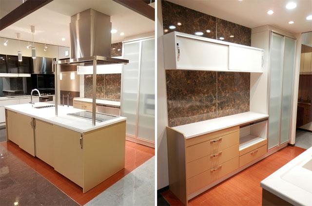 展示品 タカラスタンダート システムキッチン アイランド型 天板一体型シンク キッチンキャビネットセット! 最高品質