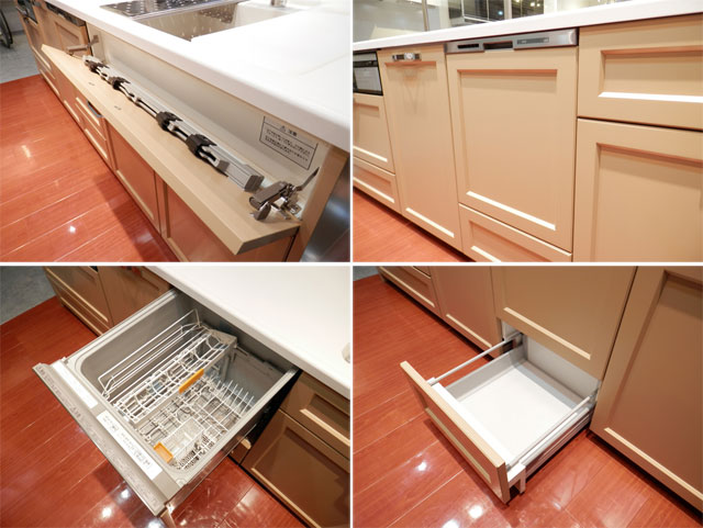 展示品 タカラスタンダート システムキッチン アイランド型 天板一体型シンク キッチンキャビネットセット! 最高品質_画像4