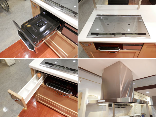 展示品 タカラスタンダート システムキッチン アイランド型 天板一体型シンク キッチンキャビネットセット! 最高品質_画像6