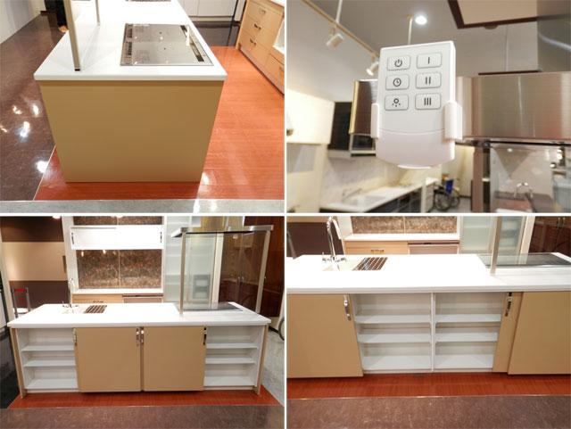 展示品 タカラスタンダート システムキッチン アイランド型 天板一体型シンク キッチンキャビネットセット! 最高品質_画像7