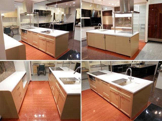 展示品 タカラスタンダート システムキッチン アイランド型 天板一体型シンク キッチンキャビネットセット! 最高品質_画像2