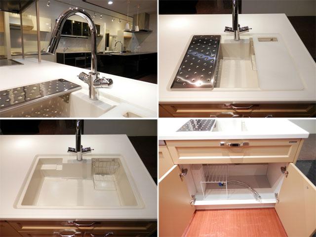 展示品 タカラスタンダート システムキッチン アイランド型 天板一体型シンク キッチンキャビネットセット! 最高品質_画像3
