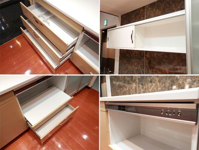 展示品 タカラスタンダート システムキッチン アイランド型 天板一体型シンク キッチンキャビネットセット! 最高品質_画像9