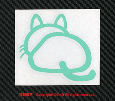 後ろ向き 猫 おしり ステッカー/ミントcat屋外耐候素材_画像2