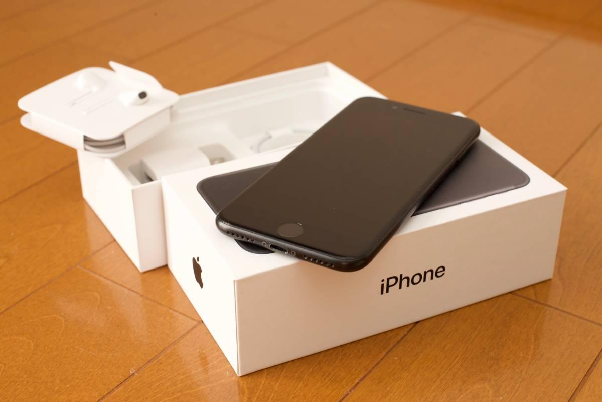 【中古】Apple Store購入 国内版SIMフリー iPhone7 ブラック 128GB AppleCare+有 送料無料_画像3