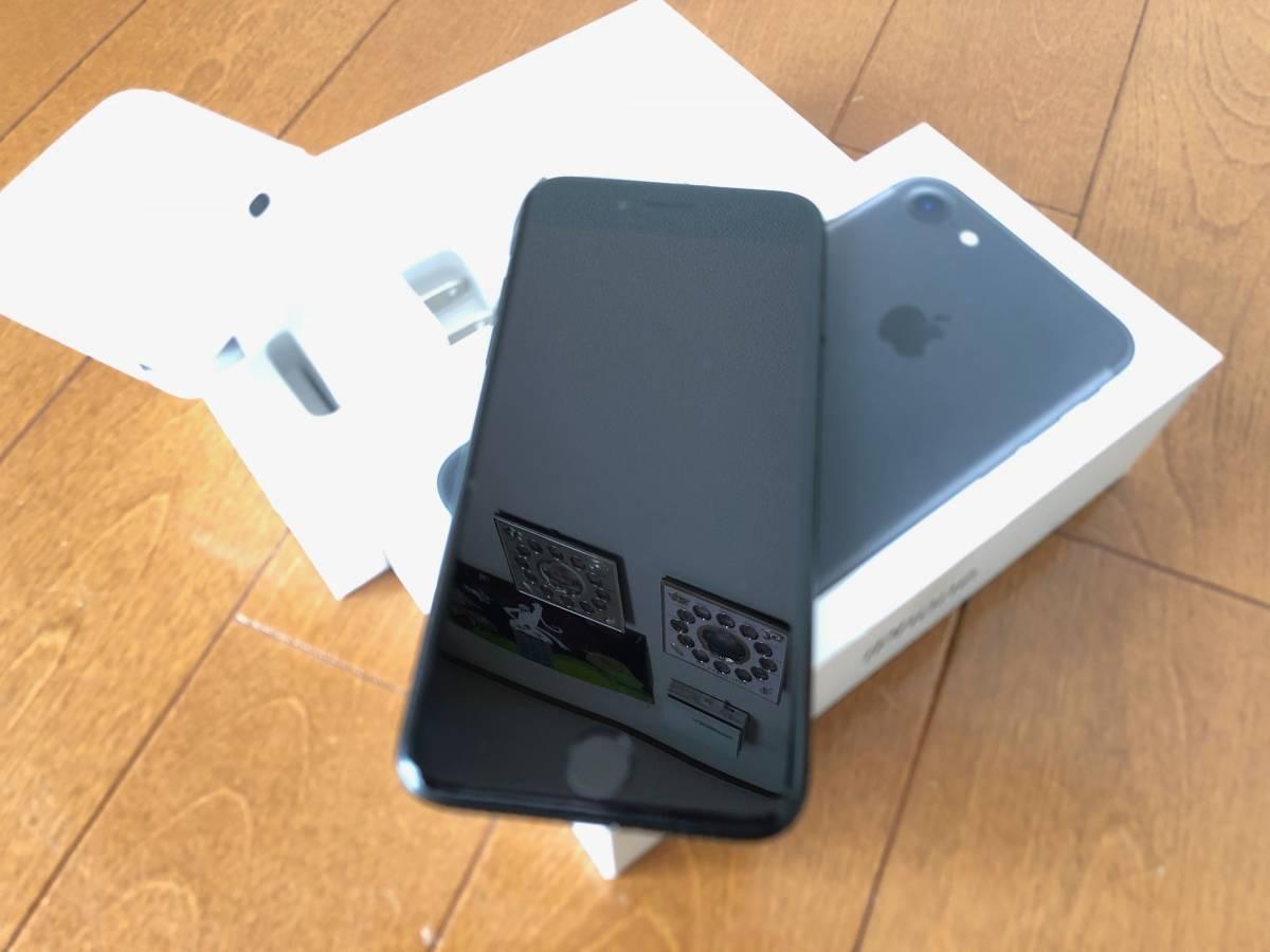 【中古】Apple Store購入 国内版SIMフリー iPhone7 ブラック 128GB AppleCare+有 送料無料_画像5