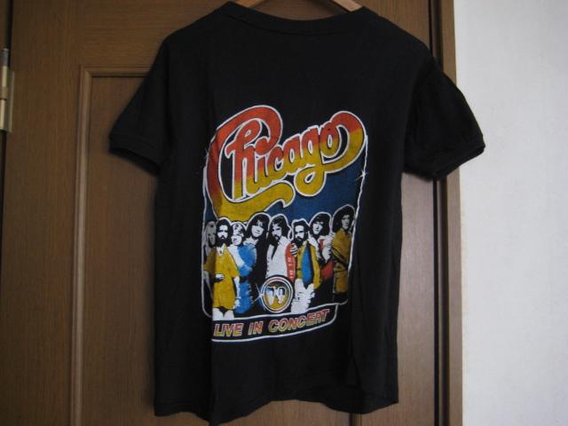 ヴィンテージ 80s パキ綿 CHICAGO ツアー Tシャツ / allman brothers band doobie fleetwood ストーンズ ガンズ bob dylan ロック バンド