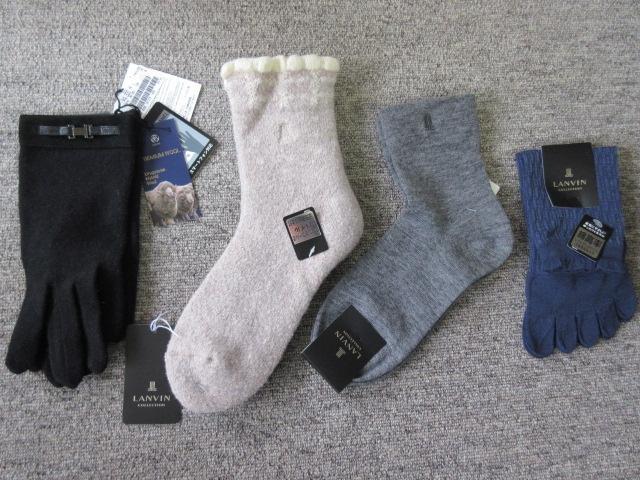 LANVIN(ランバン)の手袋と靴下3点の4点セット☆新品