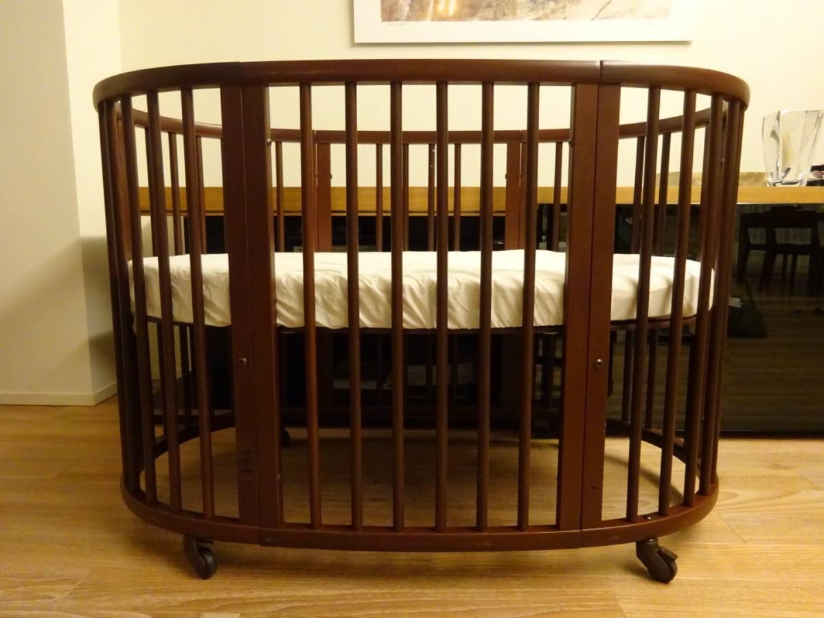 ストッケ スリーピーベッドセット(ウォールナットブラウン) STOKKE Sleepi Crib/Bedベビー ベッド 赤ちゃん子供用 寝具