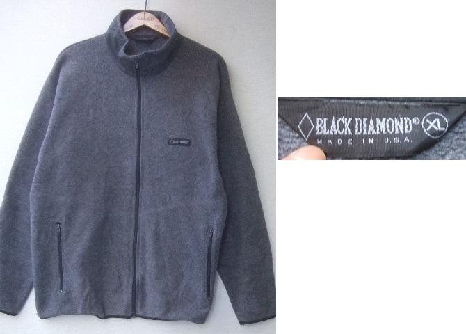 USA製●BLACKDIAMONDブラックダイヤモンドPOLARTEC配合フルジップフリースジャケット/古着アウトドアアメカジグレーXL_画像1