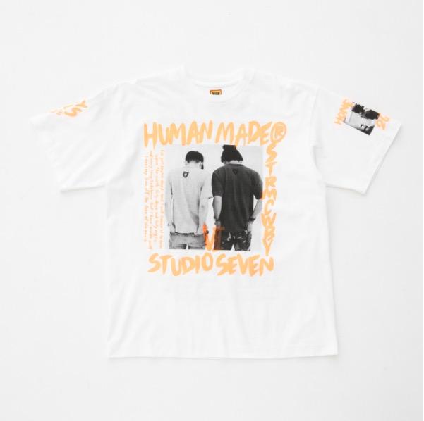 HUMAN MADE × STUDIO SEVEN Tシャツ TEE NIGO NAOTO ORANGE M ヒューマンメイド セブン 三代目 PKCZ