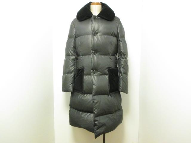 【レア!】tricot COMME des GARCONS ベルベットポケット ダウンコート 黒 フリーサイズ 美品 付属品あり トリコ コムデギャルソン