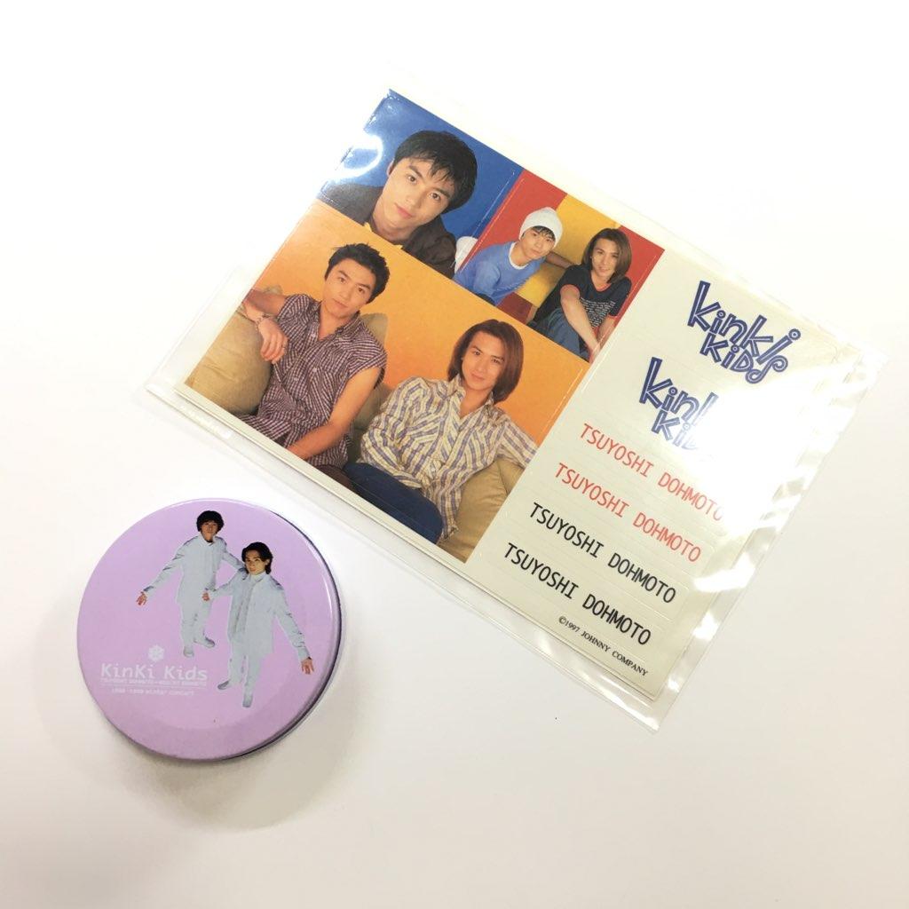 ★即決★ KinKi Kids / 【 シール 2枚(新品)/ 缶ケース(中古)】 公式 ツアー グッズ「シール 不明」「缶 1998 - 1999 WINTER CONCERT」