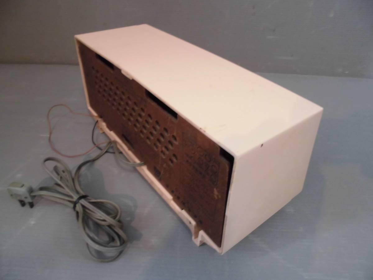 ◆ ナショナル真空管ラジオGX-230型鳴ります 淡いピンク系真空管ラジオ稼動品 小型ラジオ鳴ります ◆_画像2