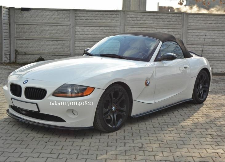 BMW Z4 E85 E86 前期 フロント リップ スポイラー / バンパー スプリッター アンダー ディフューザー カバー カナード エアロ_画像4